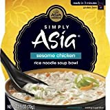 chicken and rice bowl - Simply Asia Sesame Chicken Rice Noodle Soup Bowl, 2.5 oz (Pack of 36)
