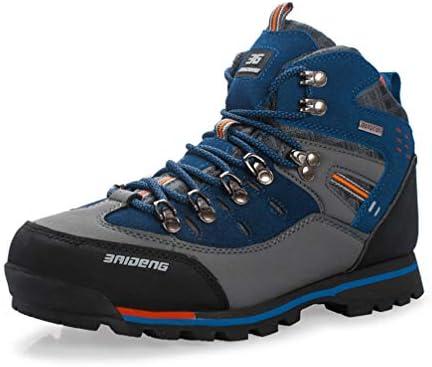 トレッキングシューズ メンズ ハイキング レザー 大きいサイズ 登山靴 ハイカット アウトドア 防水 防寒 滑り止め クッション 軽い 28cm ブルー おしゃれ カジュアル