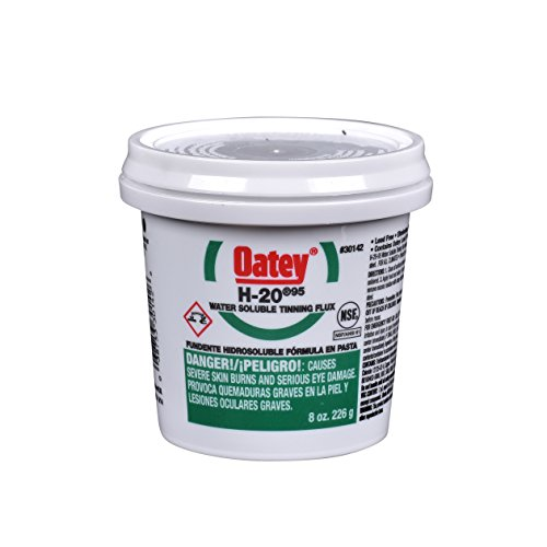 Oatey  30142 8Oz H 20 No  95 Water Soluble Tinning Flux