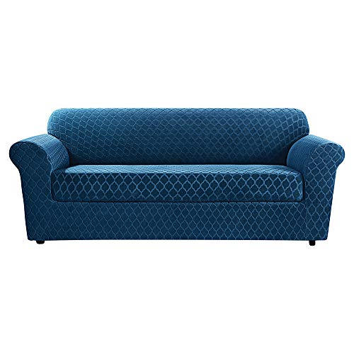 SureFit Stretch Grand Marrakesh 2-Piece - Sofa Slipcover  - Nile Blue (SF45878)