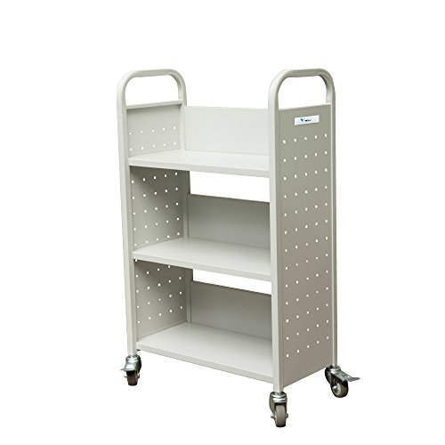 TARAXACUM Movable Book Truck Single Sided Heavy Duty Shelf Car K-D Packing Structure Bookcase