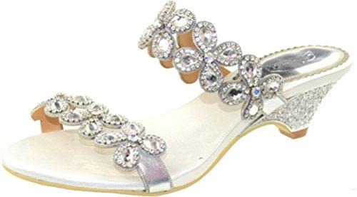CFP - Zapatos con correa de tobillo mujer blanco