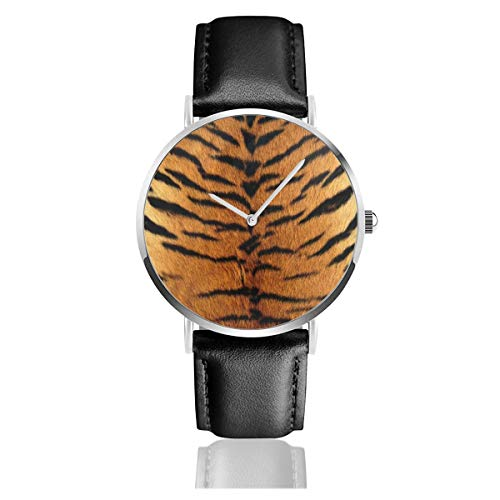 Sport Watch Tiger Skin Digital Outdoor Quartz Wristband For Women Leather Band Strap