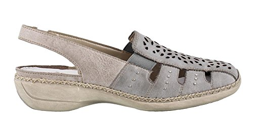 Rieker Donna, 41390 Slip On Shoes Blue