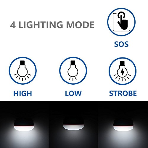 iGopeaks 2 Piece Camping Lantern, Portable LED Tent Light, Water Resistant, Outdoor Durable, 3 Light Mode, Camping Equipment Gear Gadgets Lamp for Outdoor/Indoor