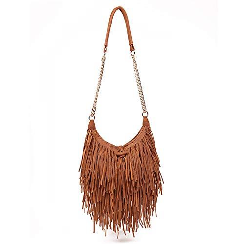 - Lanpet Women Fringe Tassel Cross Body Bag Leisure Shoulder Bag