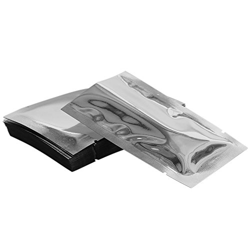 Chosky 100PCS Mylar Foil Bags Flat Vacuum Seal Bags Aluminum Foil Smell Proof Pouches Long Term Food Storage Bags 3.9