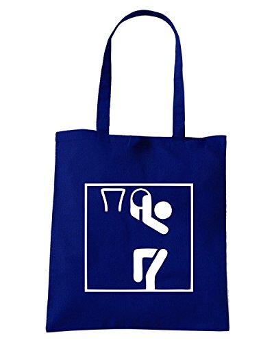 T-Shirtshock - Bolsa para la compra OLDENG00307 basketball sports pictogram Azul Marino