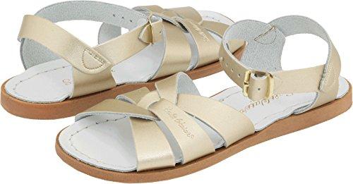 Salt Water Sandals by Hoy Shoe Original Sandal (Toddler/Little Kid/Big Kid/Women's), Gold, 10 M US Toddler