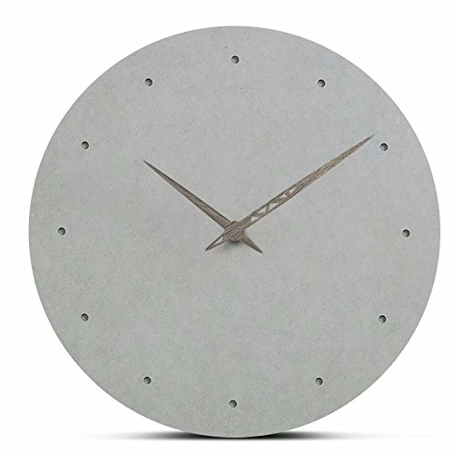 FlorLife Classy Large Nordic Style Decorative Wall Clock without Numbers - Battery Operated Quartz Clock Movements - Round Wood Home Clock Easy To Read by FlorLife