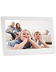 11.6-inch IPS Digital Photo Frame Full View 1920 * 1080 Electronic Photo Album Advertising Machine Durable (Color : White)