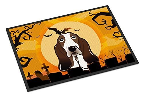 Caroline's Treasures Halloween Basset Hound Indoor or Outdoor Mat, 18 by 27
