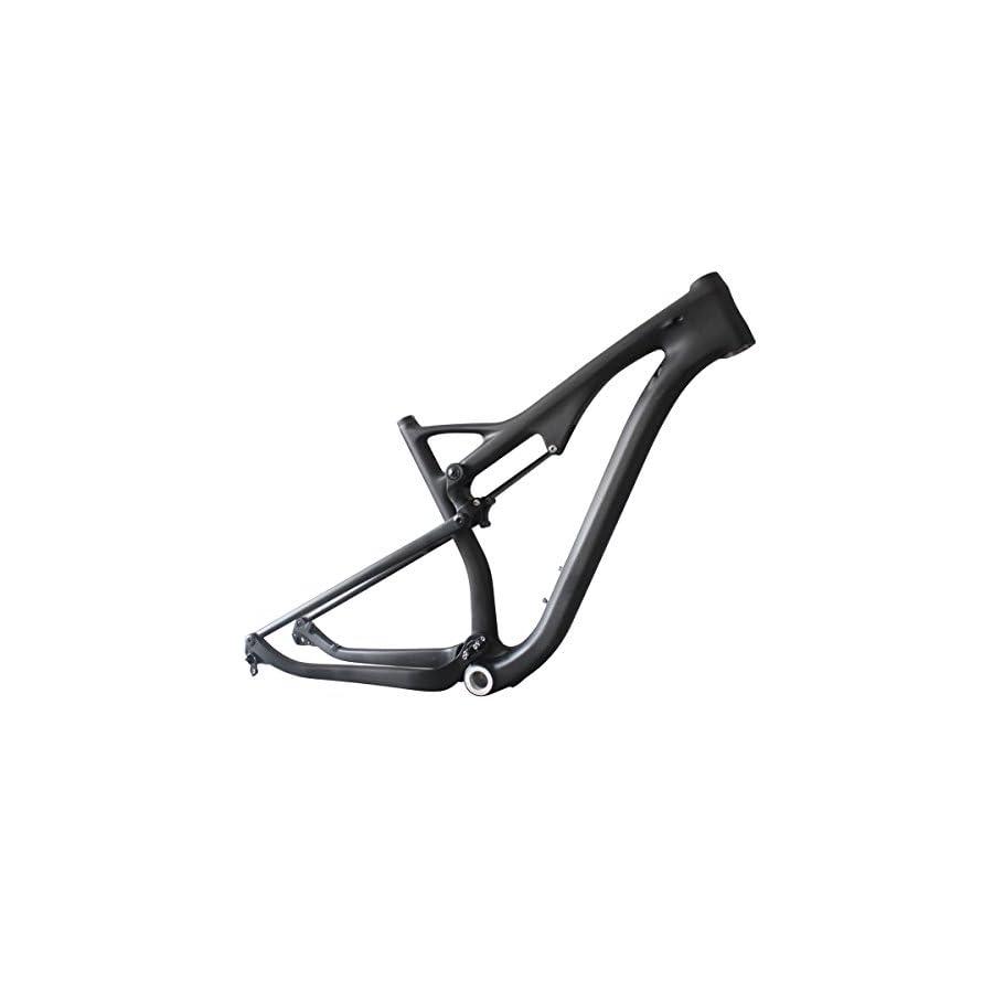 ICAN Carbon 29er Full Suspension Mountain Bike Frame 15.5/17.5/19/21 inch, BSA Bottom Bracket, 12 x 142 mm Thru Axle