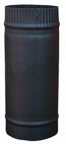 Tubo de acero para estufa de leña o combustible, 30,48 x 12,7 cm, color negro mate: Amazon.es: Hogar