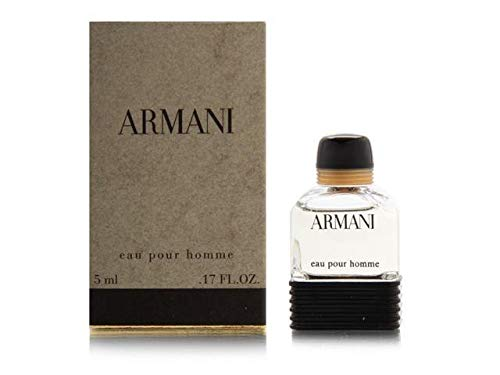 Giorgio Armani Eau de Toilette Mini Splash for Men, .17 Ounce / 5 ml 5ml Eau De Toilette Splash
