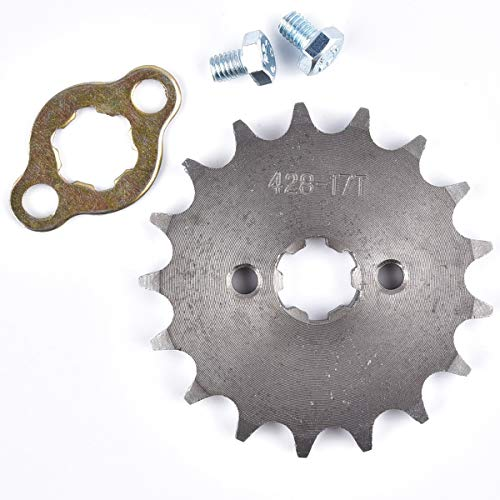 (428 17T 17mm Front Engine Sprocket For 50cc 70cc 110cc 125cc 140cc 160cc ATV Dirt Bike Quad TaoTao Roketa Sunl)