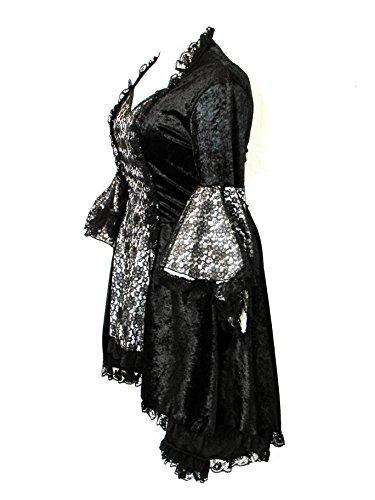 Eternal Love Plus Size Black Pewter Gothic Gwendolyn Dress Taffeta Lace (TAGGED 1X) by Eternal Love (Image #1)