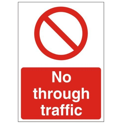 No Through Traffic Metal Sign Aluminum Sign Metal Signs Vintage Tin Sin Plate Metal Wall Poster Plaque 8x12 (Through Traffic Sign)