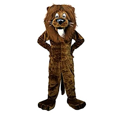 e1d25db1a Brown Lion Christmas Halloween cartoon costume mascot clothing doll  clothing (Small (160-170