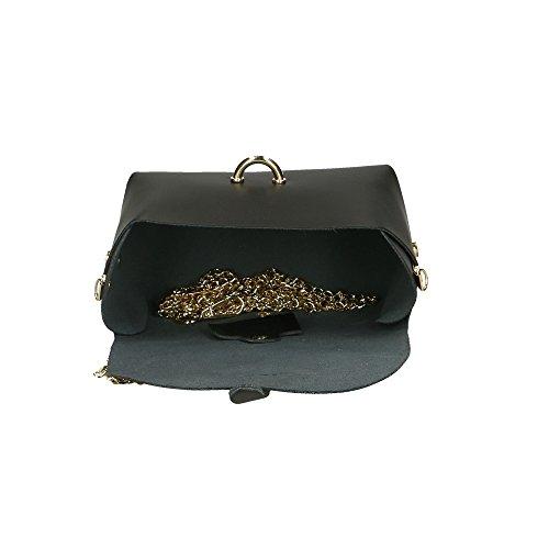 en femme italie 18x11x9 véritable en petite cuir sac à Noir Aren Cm fabriqué pour bandoulière BwvUWHq