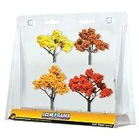Árboles de otoño SceneARama, 2 pulgadas a 3 pulgadas, 4 /paquete