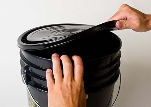 Hudson Exchange Reusable Easy Peel Lid for 3.5, 5, 6, and 7 gal Buckets, HPDE, Black, 12 Pack by Hudson Exchange (Image #2)