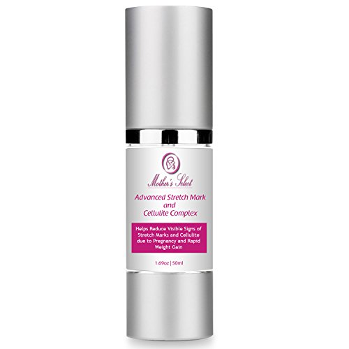 Stretch Mark Cream for Women Thighs, Legs, Stomach - Mother's Select Stretchmark & Cellulite Complex - For Pregnancy, Slimming, Firming, Removal, Tightening, Hydration, Unsightly Scars, & Fat Deposits (Stretch Scroll)