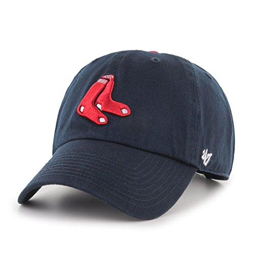 MLB Boston Red Sox Men's '47 Brand Alternate 1 Clean Up Cap, Navy, One-Size