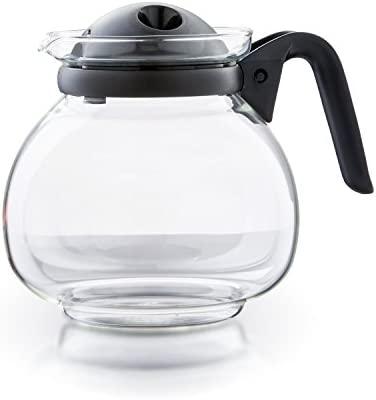 Boral Palma - Tetera (apta para microondas, cristal, 1,5 L, con colador)
