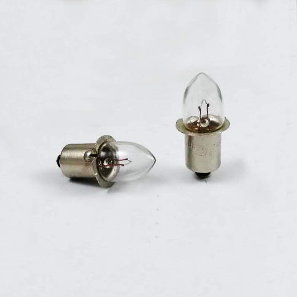 10x P13.5S 2.4V 0.75A 1.8W KPR Indicator Flashlight Bulb Torch Flanged Headlight Lantern Lamp Replacement Working Tools