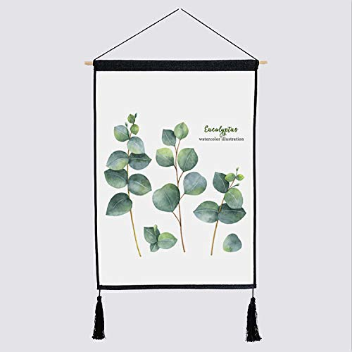 Tapestry Series Blanket (ongHa Home Original Nordic Green Plant Series Tapestry Background Cloth Blanket Decorative Cloth Fabric Painting Bedside Decorative Hanging Cloth (Size : F))