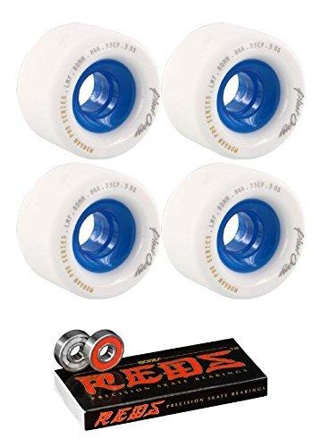 大いに発行控える60 mmブラッドオレンジモーガンシリーズLongboard Skateboard Wheels with Bones Bearings – 8 mm Bones Reds Precisionスケート定格スケートボードベアリング – 2アイテムのバンドル