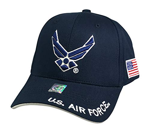 Prfcto Lifestyle Officially Licensed US AIR Force Baseball Cap Active Duty Military Hats - Caps for Air Force Veterans (Navy)