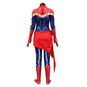 - 412OeYeTFHL - Lady Captain Suit Halloween Costume Spandex Bodysuit Zentai Cosplay Costume