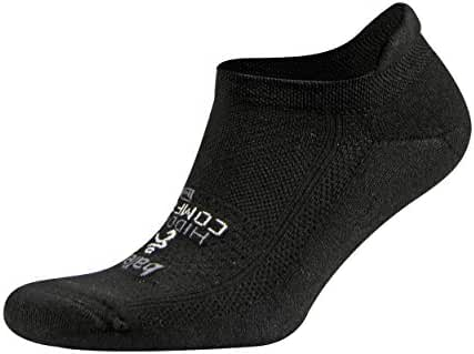 Balega Hidden Comfort Athletic No Show Running Socks for Men and Women with Seamless Toe, (Large) - Black