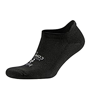 Balega Hidden Comfort Athletic No Show Running Socks for Men and Women with Seamless Toe, (Medium) - Black