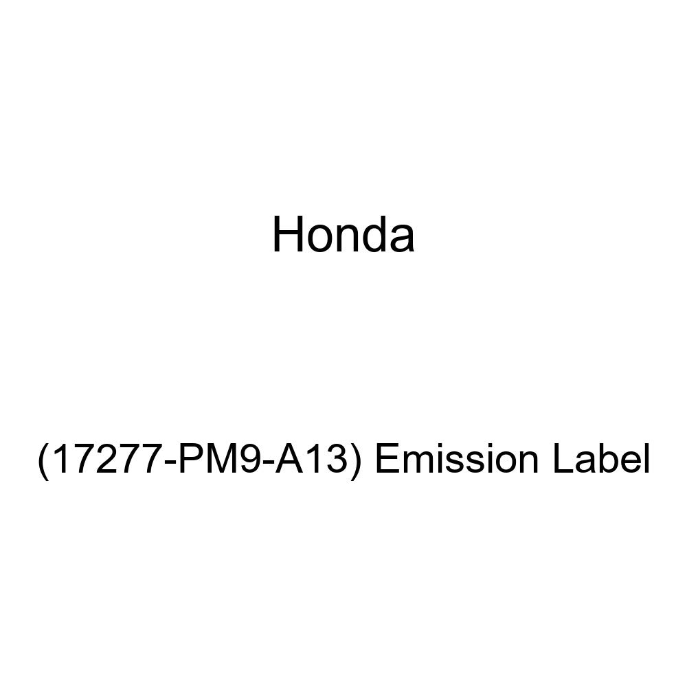 Emission Label 17277-PM9-A13 Genuine Honda