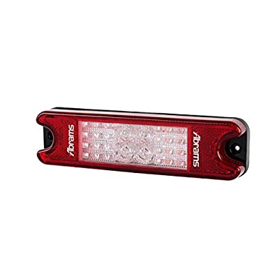 5 in 1 LED Trailer Tail Light for Car, Truck, Forklift & Camper Van - Bright Waterproof Turn Signal, Reverse & Brake ATV Lights - Low Energy Consumption Red & White Tailights - Easy Assembly Kit: Automotive