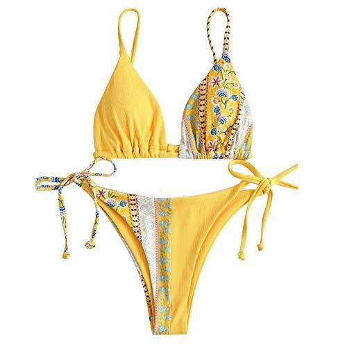 Gybify Dames bikiniset sexy dames bikini push-up set badmode badpak bikini voor vrouwen meisjes bandeau met beugel grote…