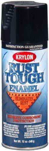 Krylon RTA9202 'Rust Tough' Gloss Black Rust Preventive Enamel - 12 oz. Aerosol by - Tough Aerosol Rust