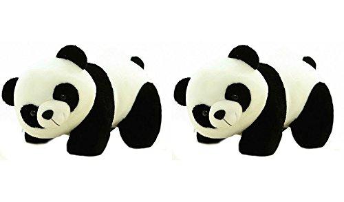 Deals India Panda Soft Toy, Black  26 cm, Pack of 2