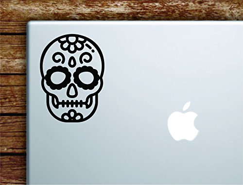 Boop Decals Sugar Skull Laptop Apple Macbook Car Quote Wall Decal Sticker Art Vinyl Cute Inspirational Teen Day of the Dead Halloween]()