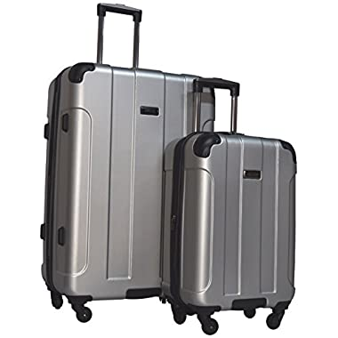 Kenneth Cole Reaction Central Park 2-Piece Expandable Luggage Spinner Set: 28  and 20  (Light Silver)