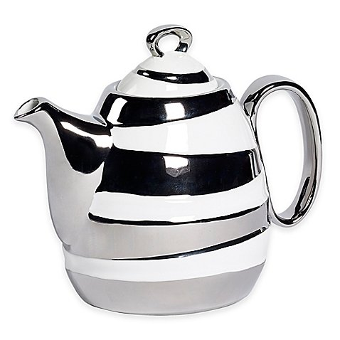 Studio TU by Tabletops Unlimited Sterling 37 oz. Teapot in Silver (Vintage Silver Teapot)