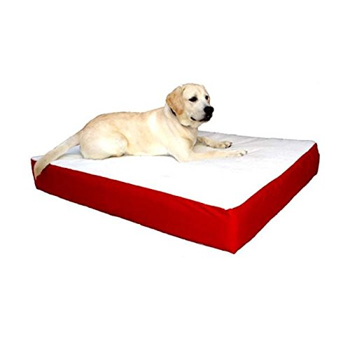 34x48 Red Orthopedic Double Pet Dog Bed by Majestic Pet Products Large Cushion to Extra Large with Removable Washable Cover