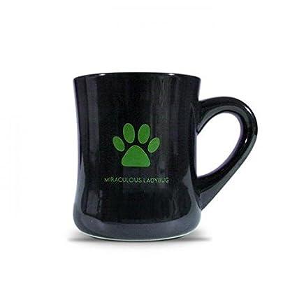 MLB002 Miraculous ladybug Official Goods Mug Coffee Cup 11oz Ceramic (Black)