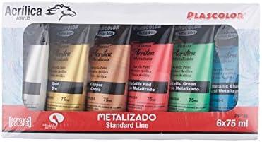 Plascolor PP188 - Pack de 6 tubos de pintura acrílica, multicolor ...