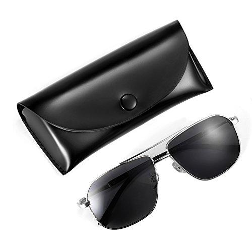 Men's Sunglasses, Rezi Sunglasses for Men, Aviator, Polarized and UV400 Protection, HD Lenses, Stainless Steel Frame, (Casual Mens Sunglasses)