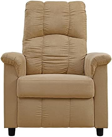 Dorel Living Slim Recliner Beige Furniture Decor Amazon Com