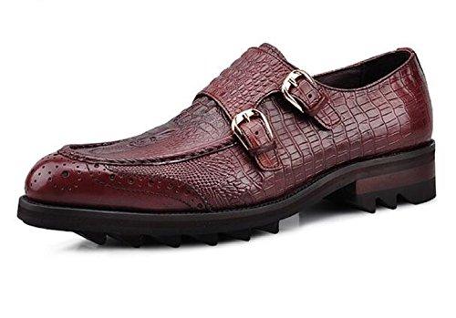 Oxford Happyshop Genuine Dress Loafer Wine TM on Kasimir Slip Red Formal Shoes Mens Leather frEYIn4rq